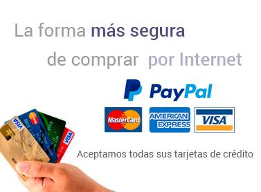 Aceptamos todas las tarjeta de crédito